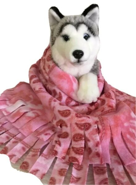PINK COWBOY Fuzee Fleece Dog Blankets Soft Pet Blanket Travel Throw Cover $12.60