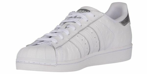 ADIDAS SUPERSTAR LEATHER SHELL LOW SPORTS SNEAKERS MEN SHOES WHITE SIZE 11 NEW