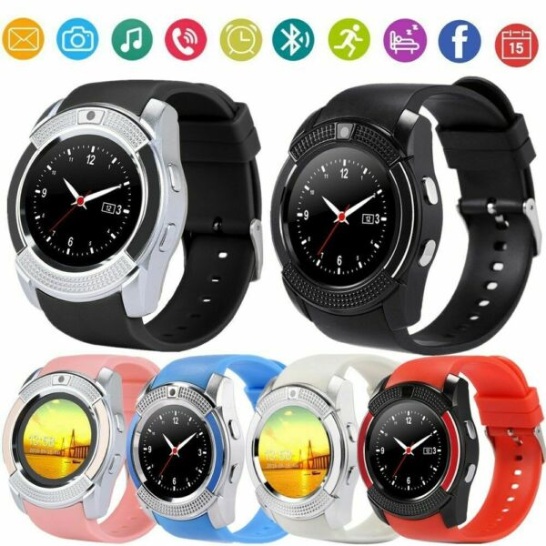 V8 Smart Wrist Watch Bluetooth SIM GSM Fitness Phone 128M Fit iPhone iOS Android