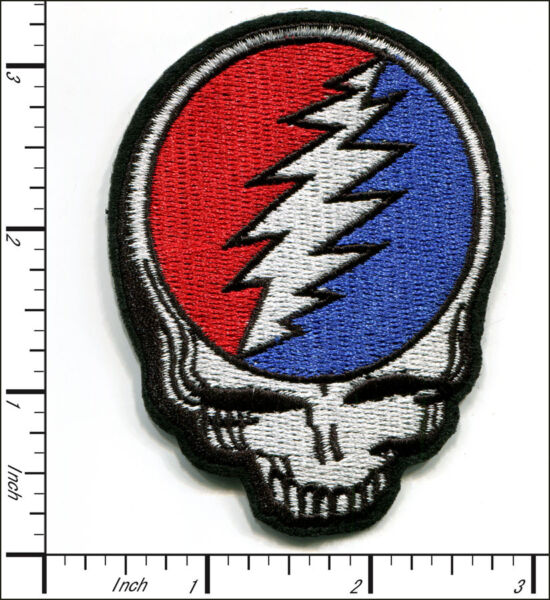 15 Pcs Embroidered Iron on patch Grateful Dead Face Skull 2.38