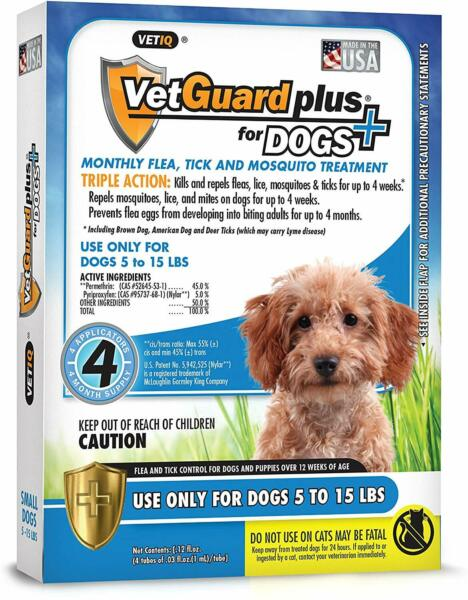 Dog Flea And Tick Lice Treatment Control Medicine 4mos Prevention For Small Dogs