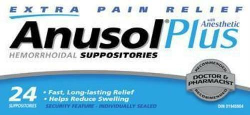 ANUSOL PLUS SUPPOSITORIES 24'S (Ships Fast from USA)