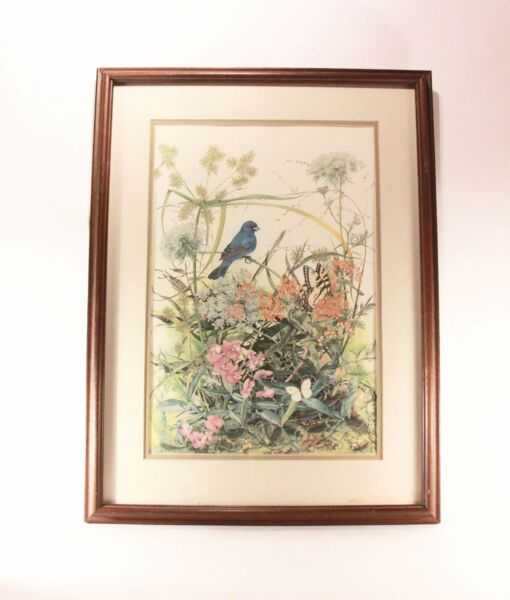 Sallie Ellington Middleton Indigo Bunting Print Signed and Numbered 1582 2000