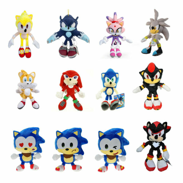 Sonic The Hedgehog Figures Plush Toys lot Stuffed Animal Doll Gift 8~13 inch
