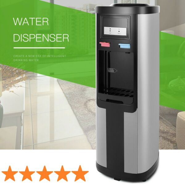 Electric Water Cooler Dispenser Stainless Steel Hot Cold Top Loading 5 Gallon $125.99