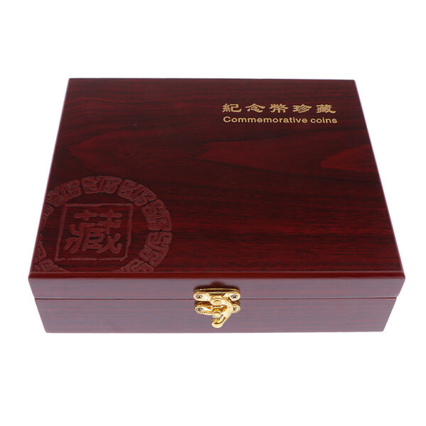 Coin Holder Display Box Case Wooden for 46mm Coins Medals 30 pcs Storage