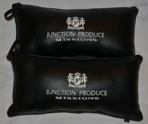 Used! MINT Junction Produce Missions PVC Half Cushion (Leather) Pillow VIP Black