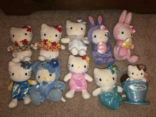 Hello Kitty Sanrio lot of 10 early 2000s preowned no tags