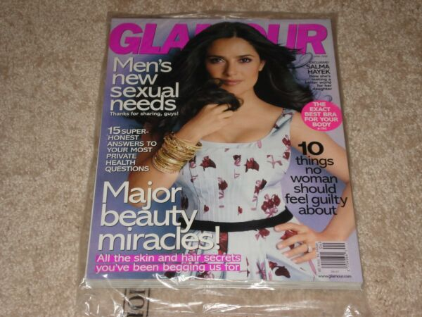 SALMA HAYEK April 2008 GLAMOUR MAGAZINE NEW * SEALED