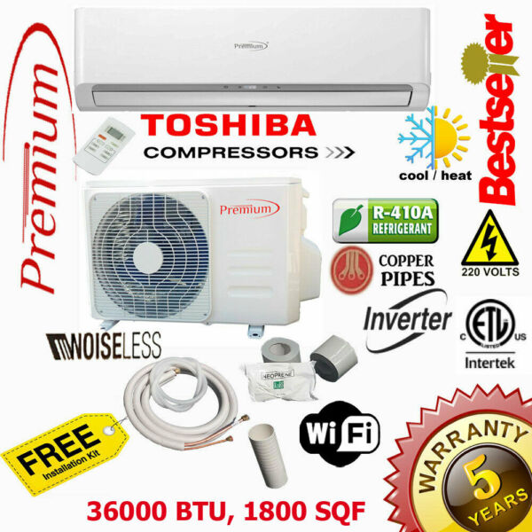 36000 BTU Air Conditioner Mini Split 17 SEER INVERTER AC Ductless Heat Pump 220V $1699.99