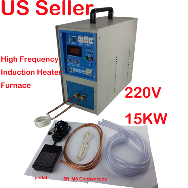 15KW High Frequency Induction Heater Furnace 220V 30-80KHZ