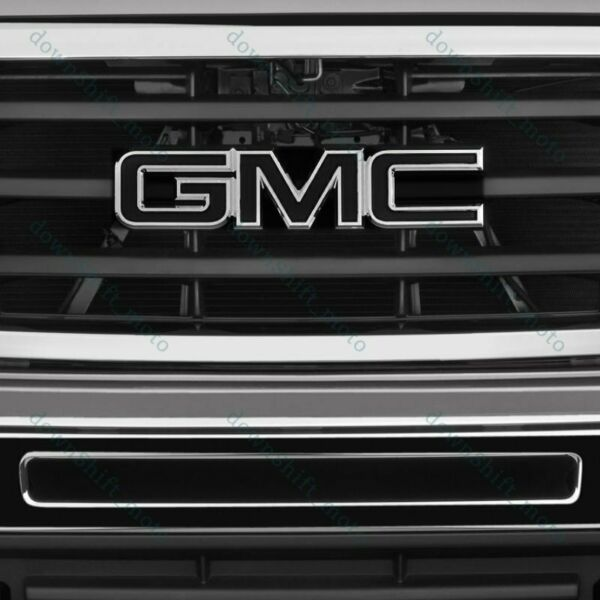 For 08-10 GMC Sierra 1500 2500HD 3500HD Front Grill Grille Emblem Badge Black X1