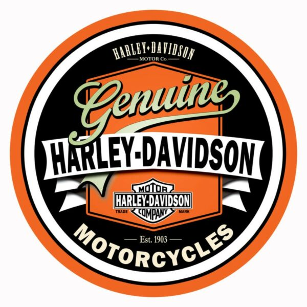 Harley Davidson Vintage Style Decal Sticker 4quot; Diameter 3M Free Shipping $4.95