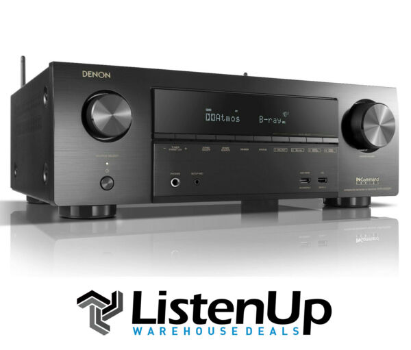 Denon AVR-X1500H 7.2 Channel 4K Receiver w Wi-Fi Airplay 2 Heos and Alexa