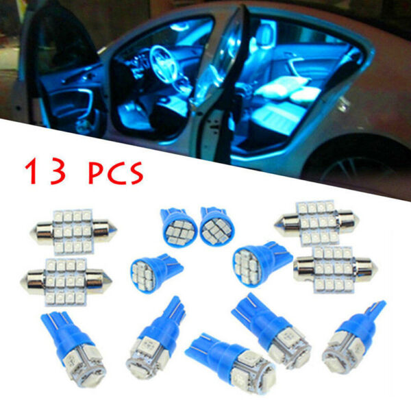 13x Auto Car Interior LED Lights Dome License Plate Lamp 12V Kit Accessories 8k $8.98