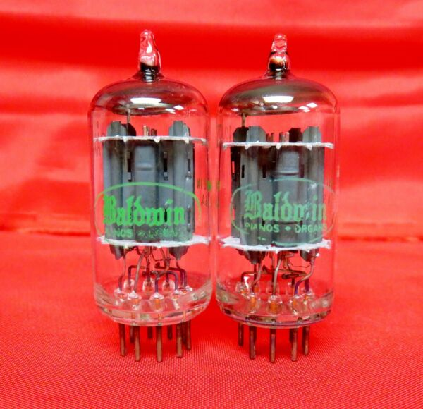 Vintage Sylvania 12AX7 PLATINUM GRADE Preamp Tubes Matched Pair Test