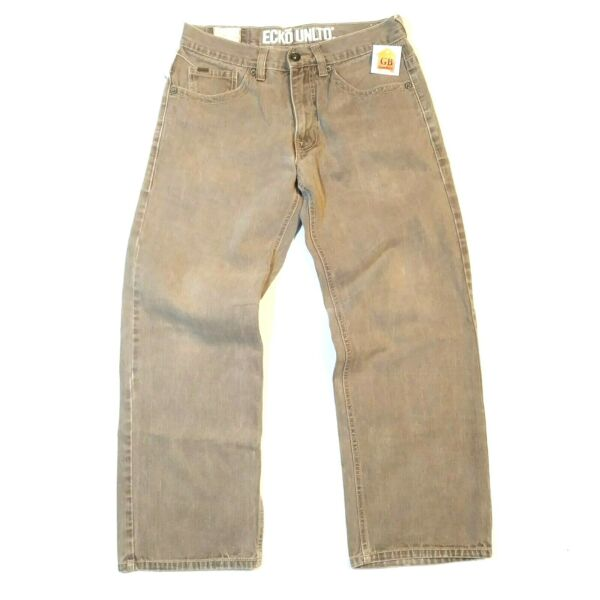 32x28 Men's jeans Ecko Unlimited Brown Cotton denim pants VTG Relaxed straight
