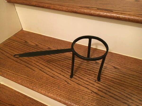 18th C Antique Wrought Iron Fireplace Pot Spider Trivet for Hearth Cooking 3 LEG