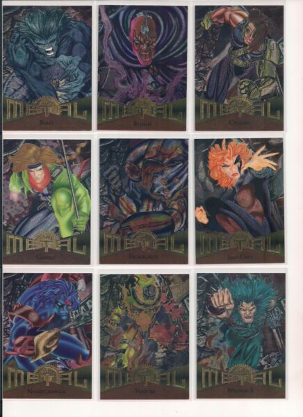 1995 Fleer Marvel Metal Trading Cards  You Pick  Choose From List (CHOICE)