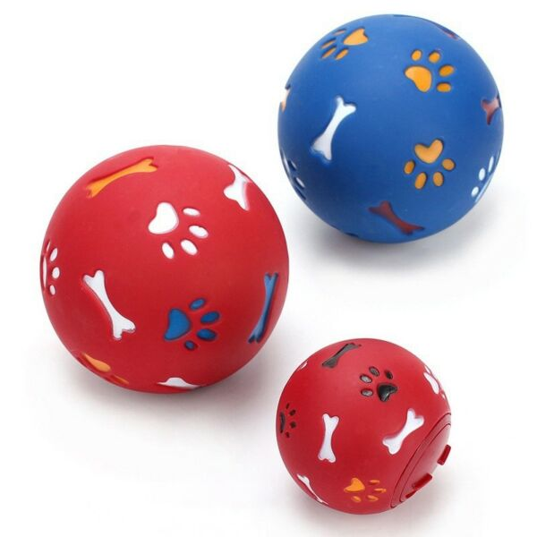 Rubber Ball Chew Treat Dispensing Holder Pet Dog Training Puzzle Ball Latest #H3