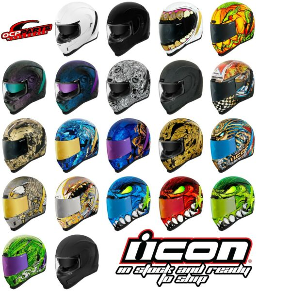 ICON AIRFORM MOTORCYCLE STREET BIKE HELMET DOT PICK SIZE COLOR $225.00