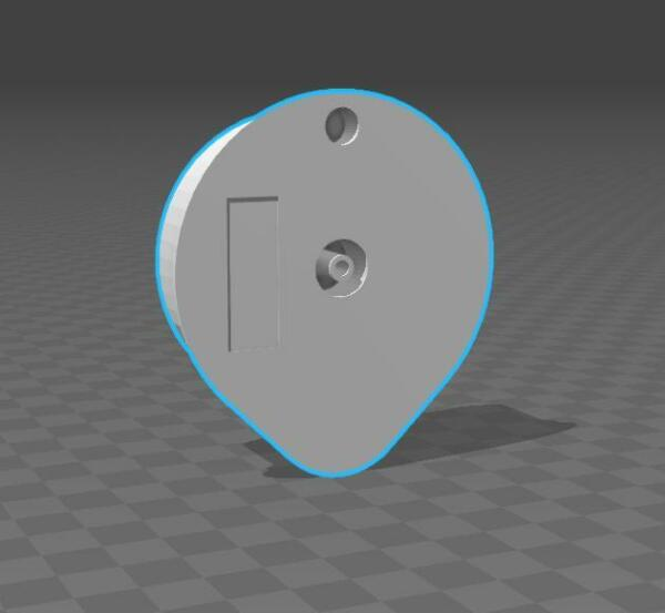 3D drawing Hand Made Reusable Disc for Tassimo T Disc for SolidWorks New