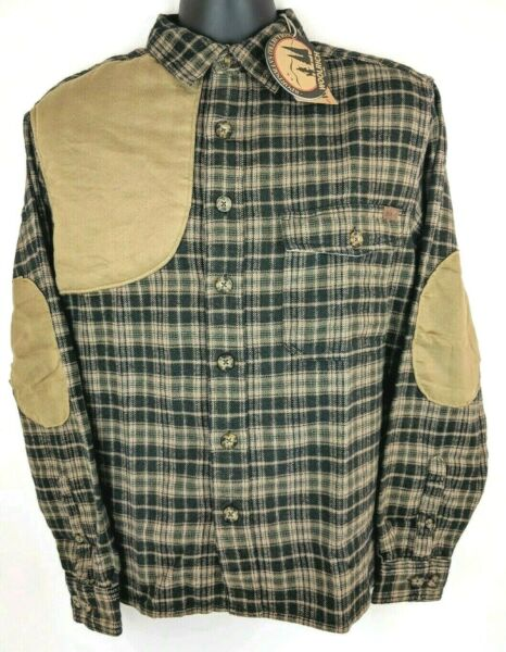 NEW Woolrich Flannel Plaid Shooting Padded Hunting Long Sleeve Shirt Mens M L XL