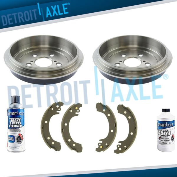REAR. Brake Drums Ceramic Shoes For 2003 2004 2005 2006 2007 2008 Corolla USA