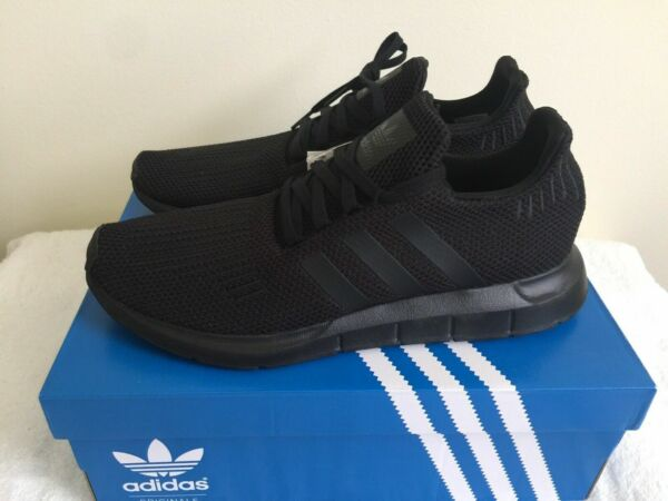 New Adidas Originals Swift Run Shoe Triple Black Running AQ0863 Mens Multi Sizes