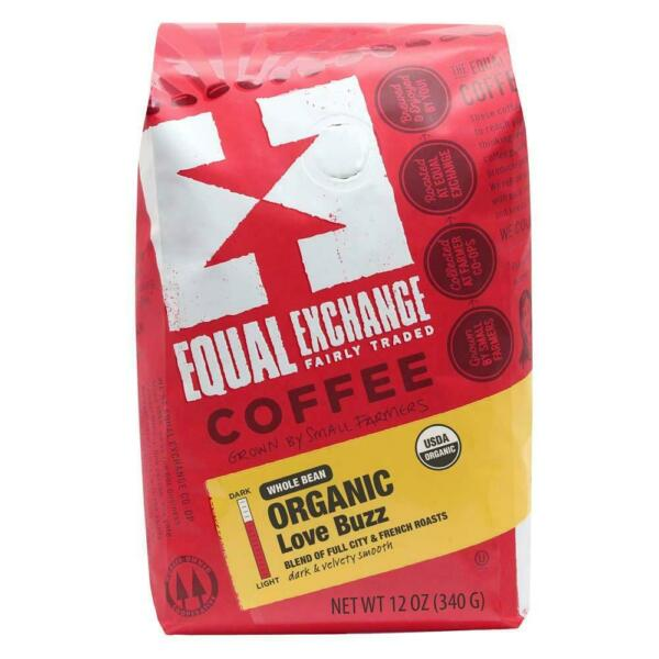 Equal Exchange Love Buzz Blend Organic Coffee Bean 12 Ounce Pack of 1