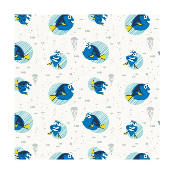 Disney Finding Dory Nemo Faces in White by Camelot fabrics ~By The Yard