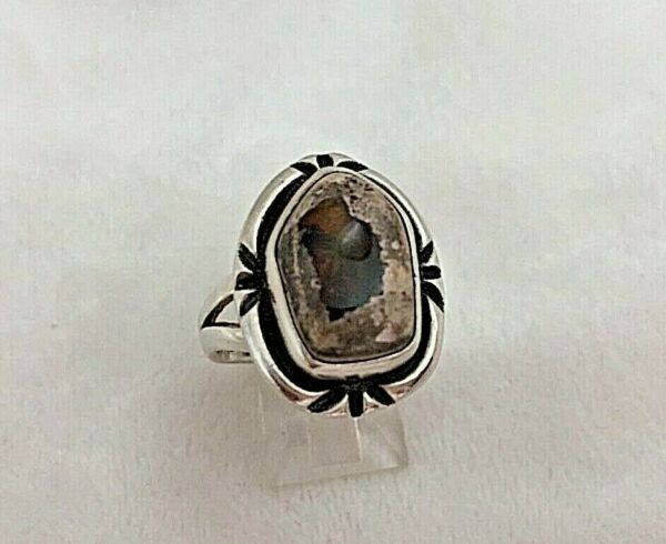 Sterling Silver .925 Mexican Fire Opal 16mm x 21mm Ring Size 8