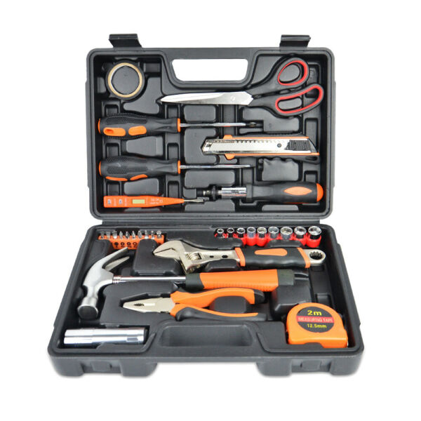 31-Piece Tool Set General Household Home Repair Hand Tools Kit with Storage Case