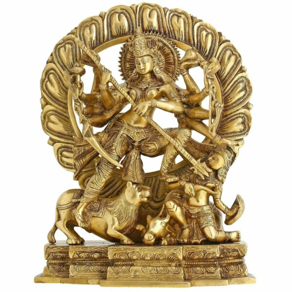 7.3 Kg Hindu Goddess Devi Durga Maa Idol Brass Statue for Puja Home decor