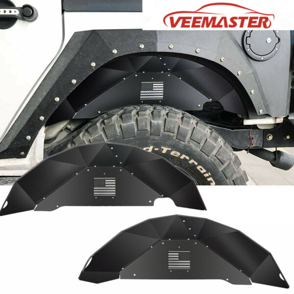 Rear Inner Fender Liners Off Road Accessories for 2007 2018 Jeep Wrangler JK 4WD $101.55