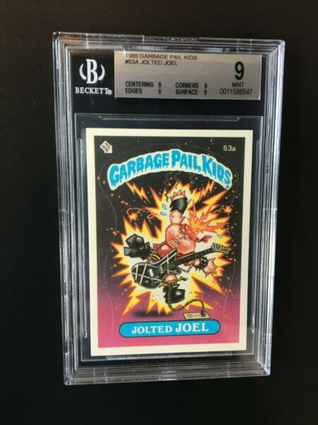1985 Topps Garbage Pail Kids JOLTED JOEL #53a GRADED BGS 9 MINT