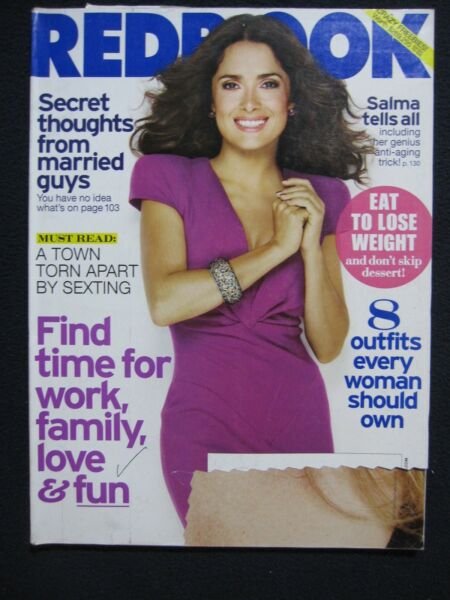 Redbook Magazine November 2011 Salma Hayek: Salma Tells All