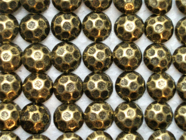 100 Hammered Head Antique Brass Finish Decorative Upholstery Tacks Nails
