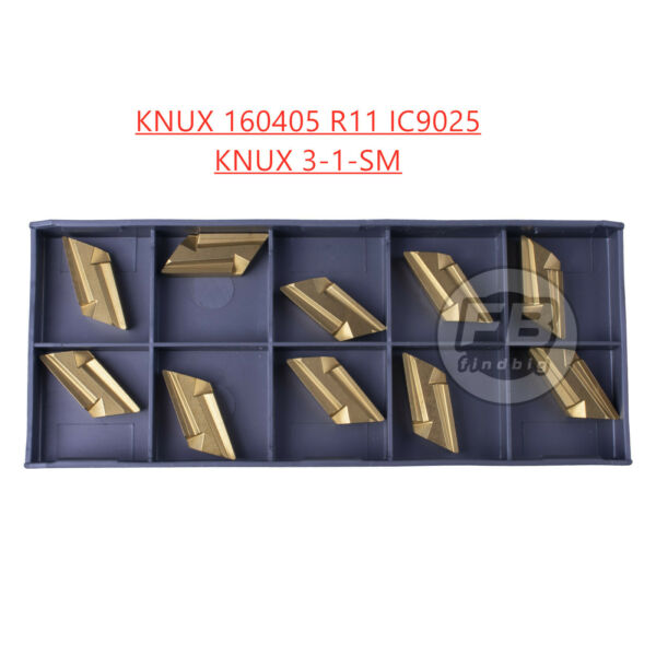 10 KNUX 160405 R11KNUX 3-1-SM IC9025 TiN Coated Carbide Inserts