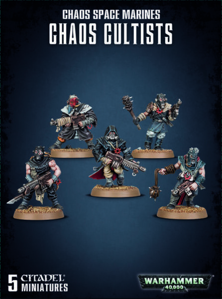 Warhammer 40k Chaos Space Marines Chaos Cultists Cultist Traitor Guard 40000
