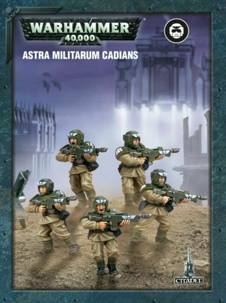 Warhammer 40k Imperial Guard  Astra Militarum ETB Cadian Shock Troops x5 Squad