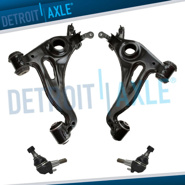 Pair (2) Front Lower Control Arms w Ball Joints For Mercedes C220 C230 C280 C36