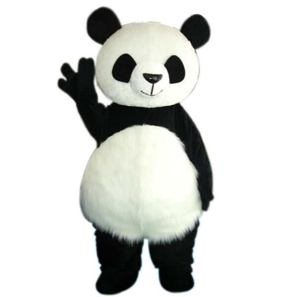 Panda Bear Mascot Costume Cosplay Adult Outfit Dress Parade Festival Animal Suit