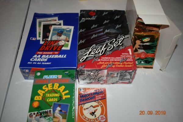 Baseball Cards Denny's 1997 Fleer 1993 MLB Rookies AA 1991 Leaf 1991 series 1