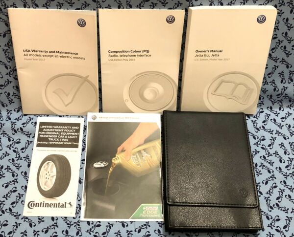 2017 VW JETTA GLI OWNERS MANUAL w COMPOSITION COLOR RADIO PHONE INTERFACE OEM A+