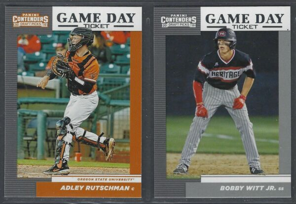2019 Panini Contenders Draft Baseball GAME DAY TICKET Complete Your Set You Pick