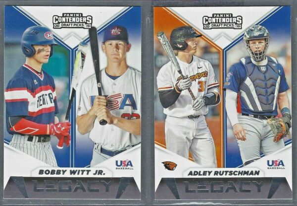 2019 Panini Contenders Draft Baseball LEGACY Inserts Complete Your Set You Pick