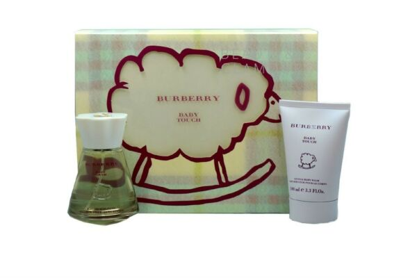 BABY TOUCH BY BURBERRY GIFT SET ALCOHOL FREE EAU DE TOILETTE SPRAY 100ML NIB $74.50
