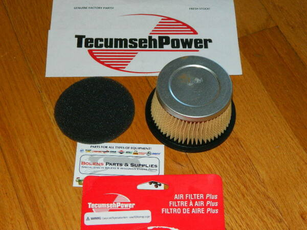 GENUINE Tecumseh Air filter & pre-cleaner 30727 Troy Bilt tomahawk chipper shred