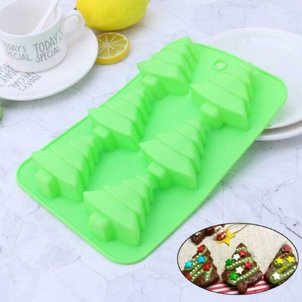 Christmas Tree Cake Baking Silicone Mold Pan Soap Moulds Biscuit Chocolate Tray